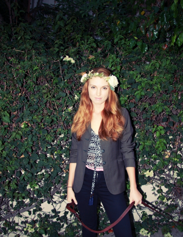 flower crown outfit