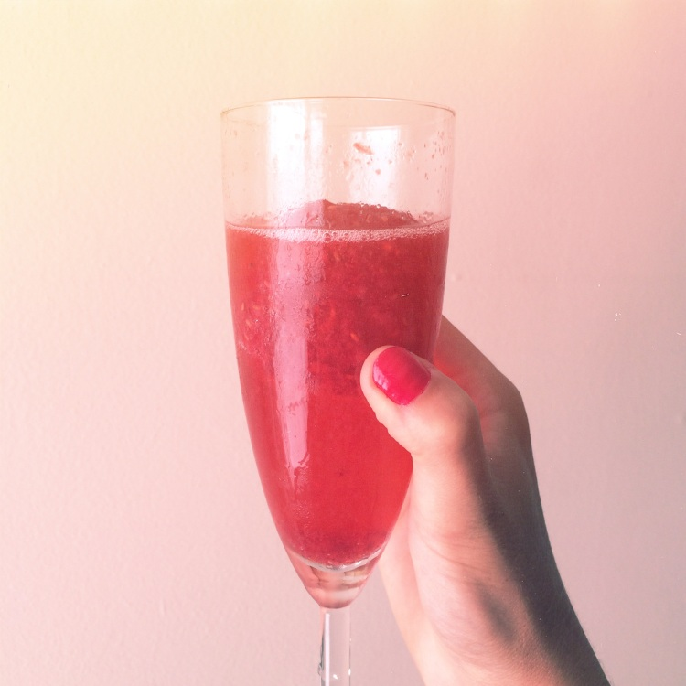 champagne cocktail raspberry