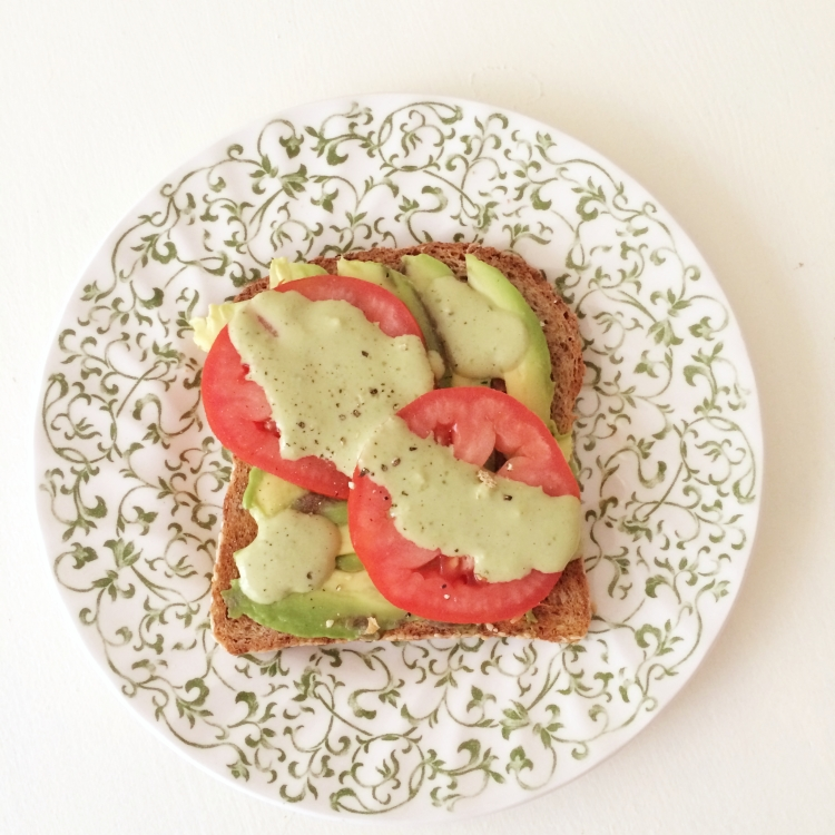 avocado pesto toast