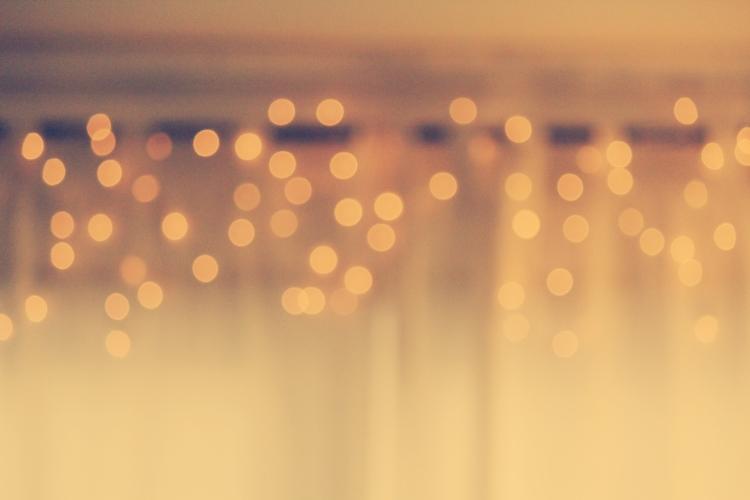 twinkle lights fuzzy